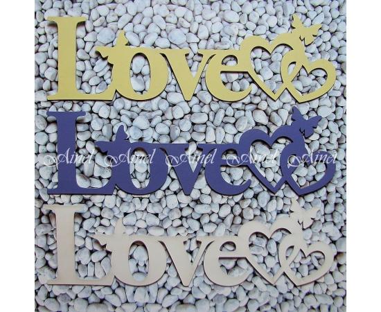 Слово для фотосессии LOVE сердца и бабочки