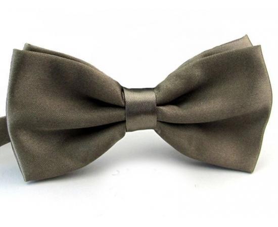 Галстук-Бабочка №1-60 коричнево-серый