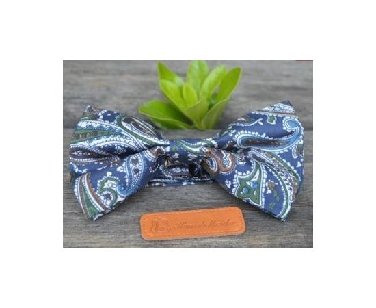 Галстук-Бабочка №2-97 сине-зеленые огурцы