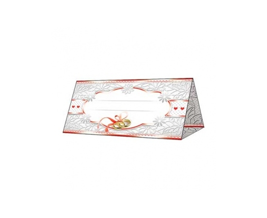 Рассадочная карточка Серо-красная с кольцами