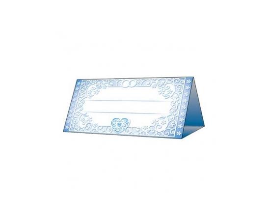 Рассадочная карточка Сине-голубая с сердцем