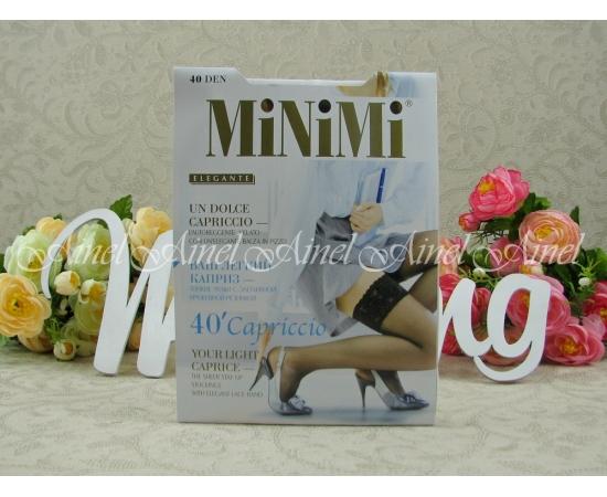 Чулки MINIMI Capriccio 40 den S/M белые