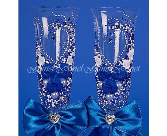 Бокалы свадебные для молодоженов №42 с лепниной
