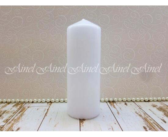 Свеча столбик белый 15*5,5см