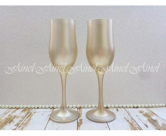 Бокалы для шампанского, золото, 2 шт.