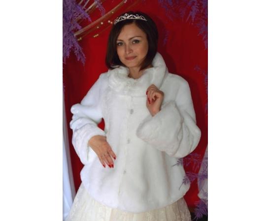 Свадебная шубка для невесты №128 напрокат