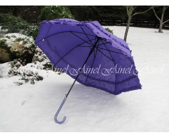 Зонт-трость свадебный сиреневый в прокат