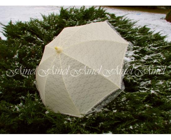 Зонт-трость №20 Айвори кружево прокат