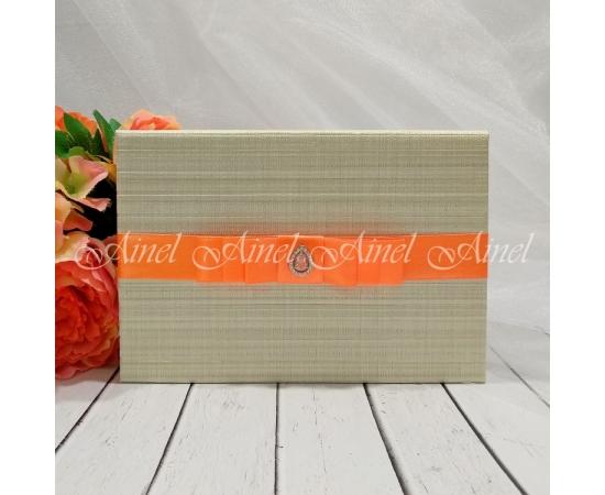 Свадебная обложка для свидетельства №5 А5 оранжевый