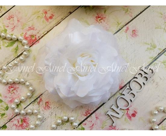 Заколка-цветок Роза большая