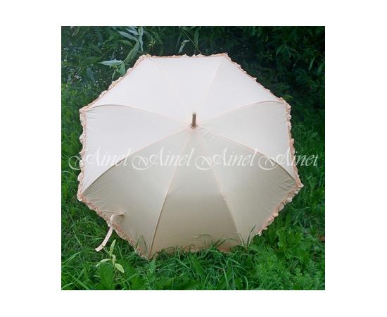 Свадебный зонт-трость Айвори гладкий