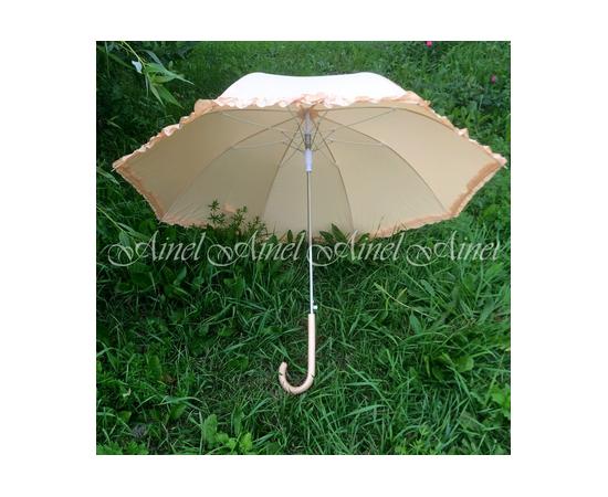 Свадебный зонт-трость для фотосессии Айвори гладкий
