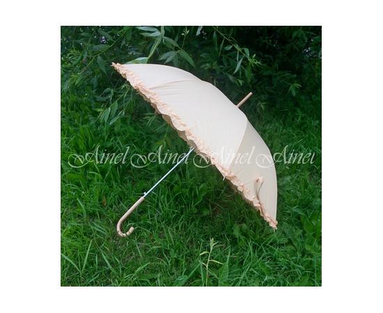 Зонт-трость  на свадьбу для молодоженов Айвори гладкий