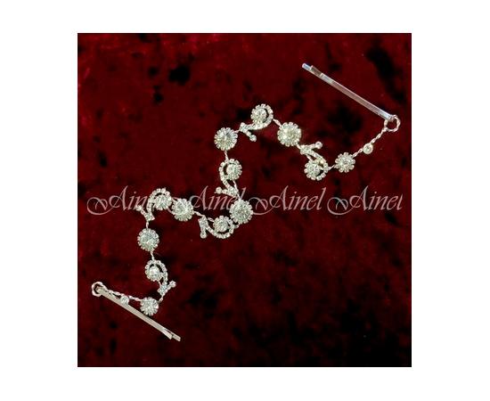 Украшение для прически невесты Стразы и кристаллы
