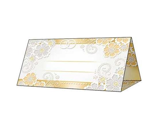 Рассадочные карточки Золотые, серебряные цветочки