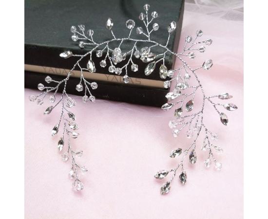 Мягкое украшение для прически Стразы, кристаллы 26см
