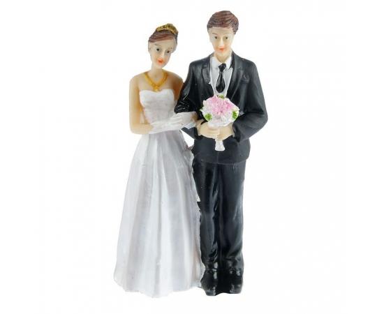 """Фигурка на свадебный  торт """"Молодожены"""" средняя 10,5см"""