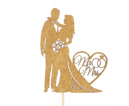 "Топпер ""Парочка Mr&Mrs"" для свадебного торта"
