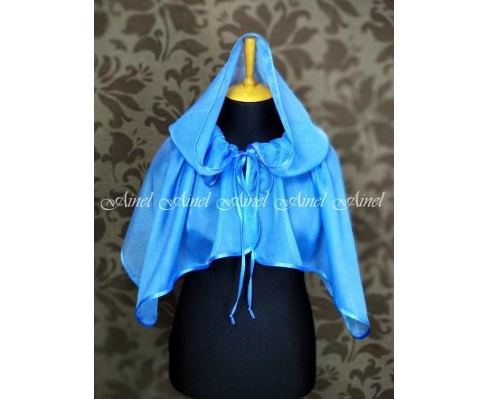 Накидка с капюшоном для церкви голубая