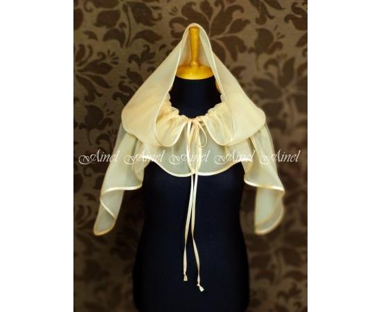 Венчальный платок персиковый