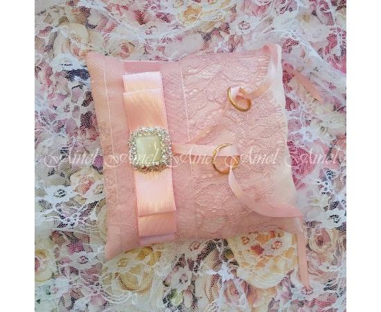 """Подушечка для обручальных колец """"Марсель"""" пудровый розовый"""