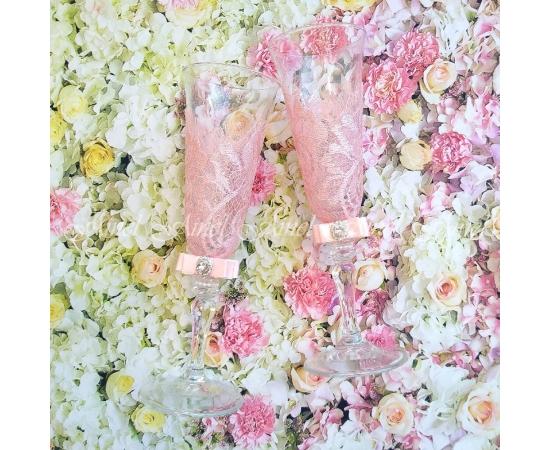 Фужеры на свадьбу Марсель розовый