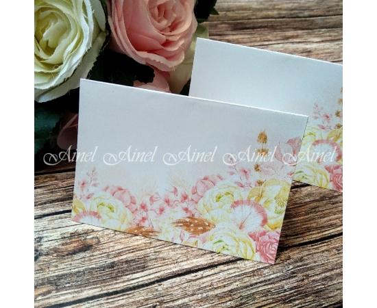 """Рассадочные карточки """"Розовый сад"""""""